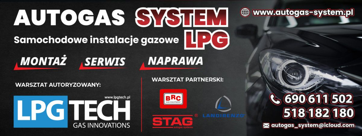 AUTOGAS SYSTEM Warszawa – LPGTECH, STAG, BRC, LANDIRENZO Samochodowe Instalacje Gazowe LPG – MONTAŻ, SERWIS, NAPRAWA